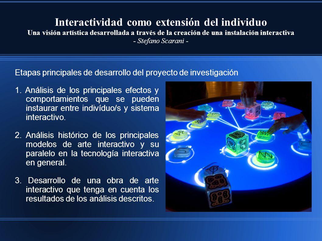Interactividad como extensión del individuo Una visión artística desarrollada a través de la creación de una instalación interactiva - Stefano Scarani - 1.