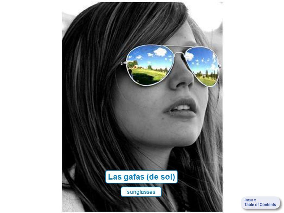 Las gafas (de sol) sunglasses