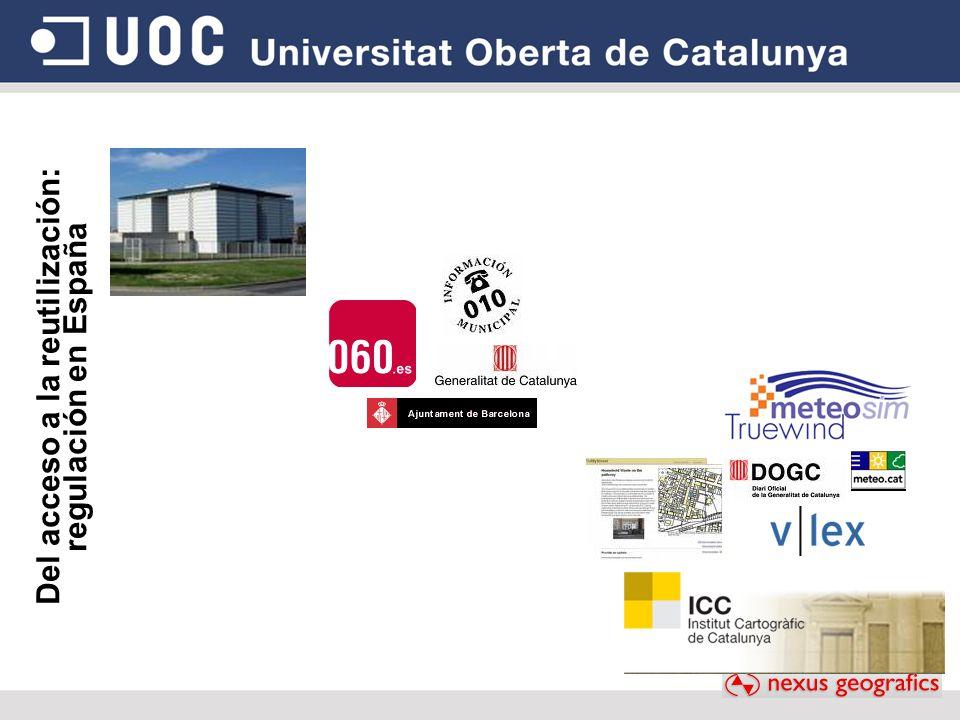 Del acceso a la reutilización: regulación en España