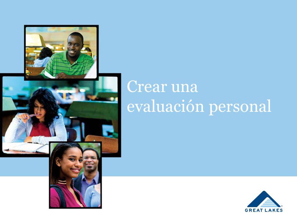Crear una evaluación personal