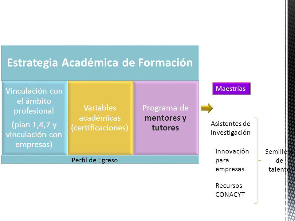Perfil de Egreso Maestrías Asistentes de Investigación Innovación para empresas Recursos CONACYT Semillero de talento