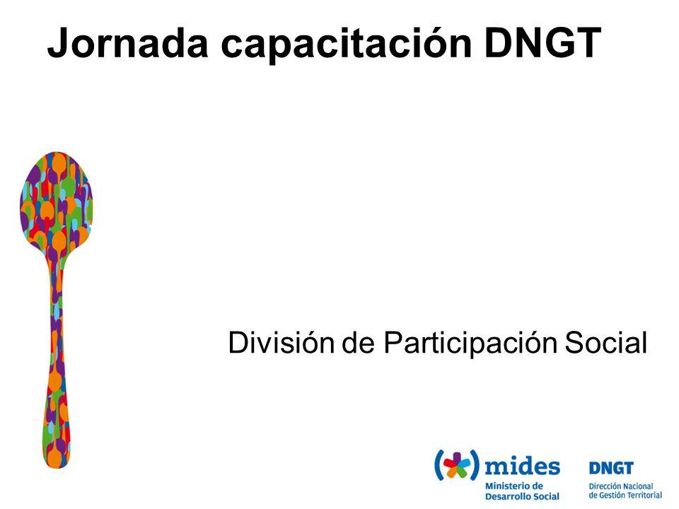 Jornada capacitación DNGT División de Participación Social