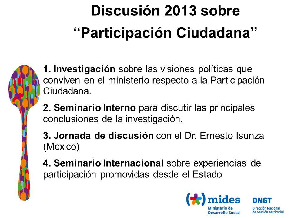 Discusión 2013 sobre Participación Ciudadana 1.
