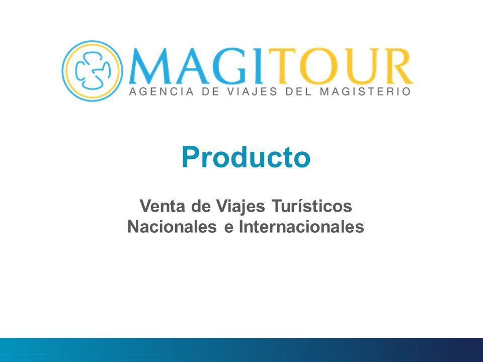 Producto Venta de Viajes Turísticos Nacionales e Internacionales
