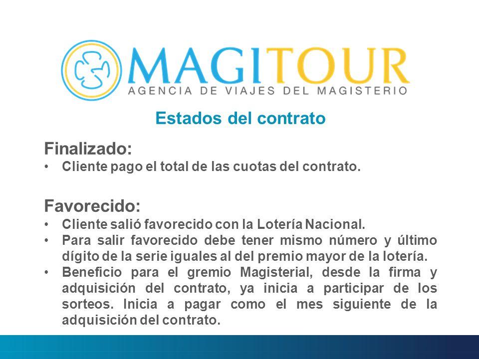 Estados del contrato Finalizado: Cliente pago el total de las cuotas del contrato.