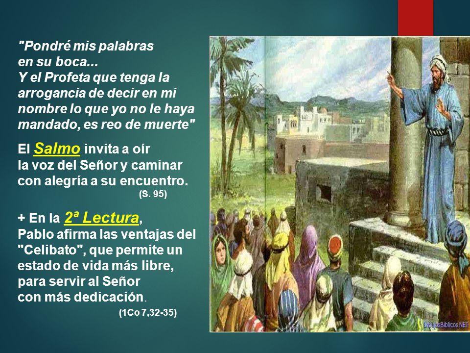 Moisés es el intérprete de la Ley, el intermediario entre Dios y los hombres, que vigila y promueve siempre la fidelidad a la Alianza.
