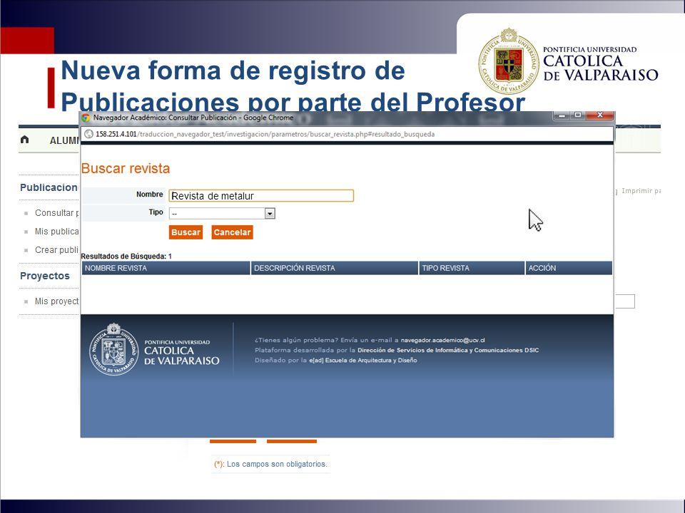 Nueva forma de registro de Publicaciones por parte del Profesor Materiales valiosos en el desierto de Atacama OSORIO MATZKE CARLOS Revista de metalur
