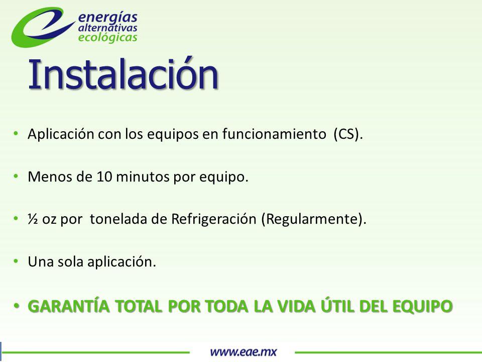 Aplicación con los equipos en funcionamiento (CS).
