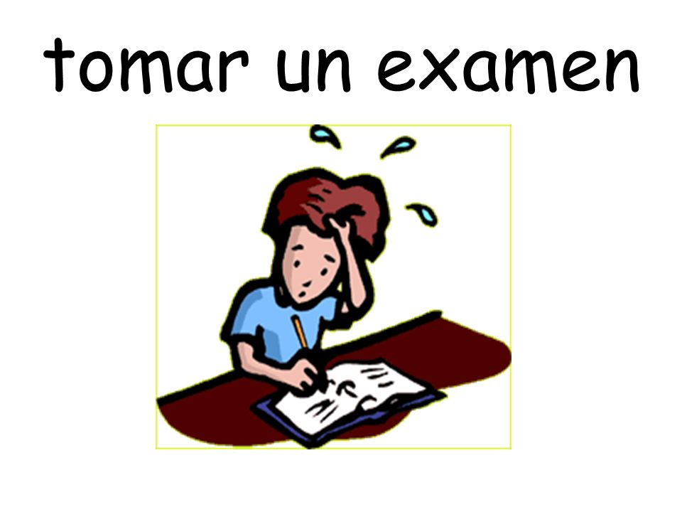 tomar un examen