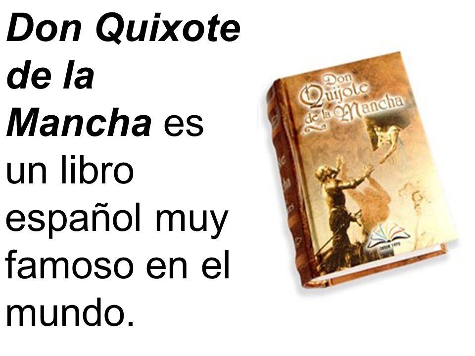 Don Quixote de la Mancha es un libro español muy famoso en el mundo.