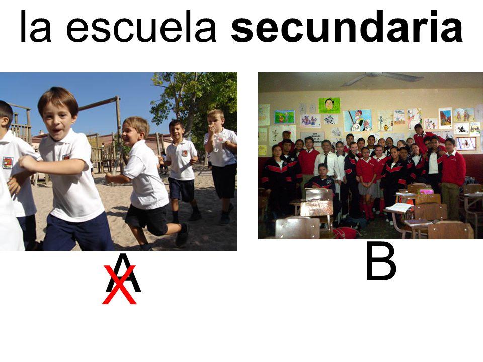 la escuela secundaria A B X