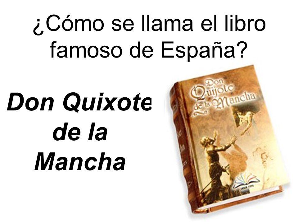Don Quixote de la Mancha ¿Cómo se llama el libro famoso de España