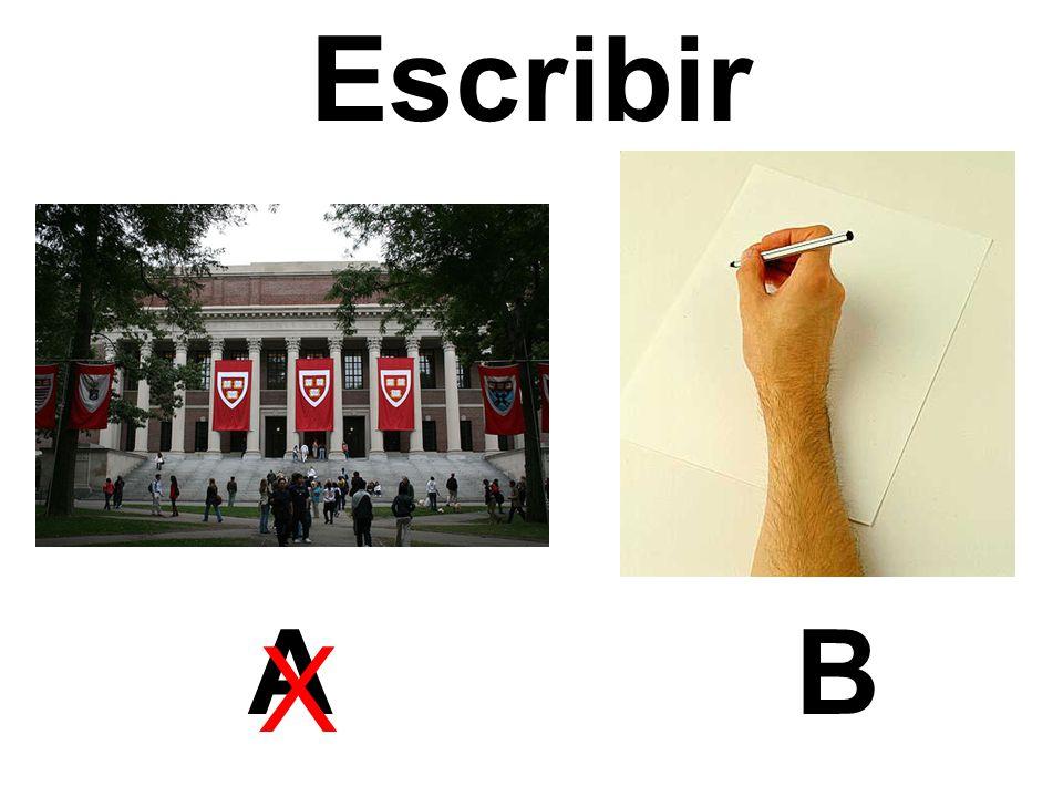 Escribir AB X