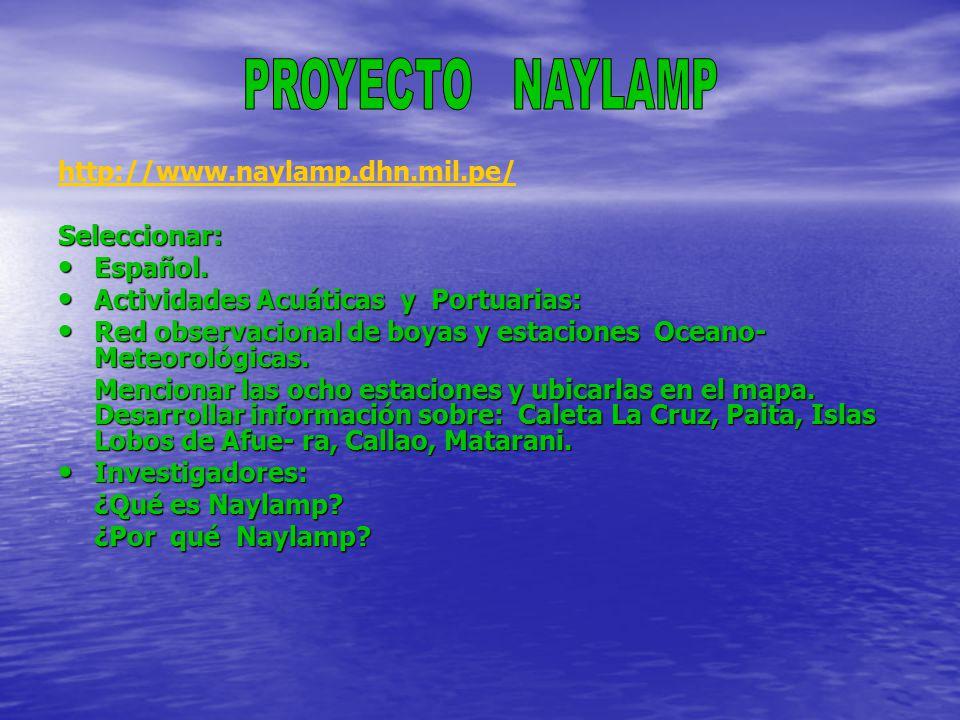 http://www.naylamp.dhn.mil.pe/Seleccionar: Español.