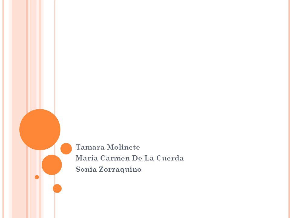 Tamara Molinete María Carmen De La Cuerda Sonia Zorraquino