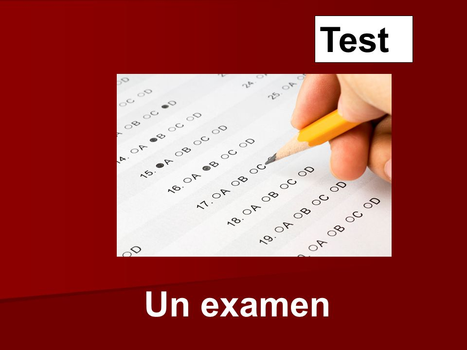 Un examen Test
