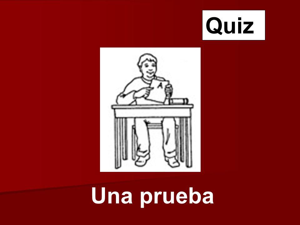 Una prueba Quiz