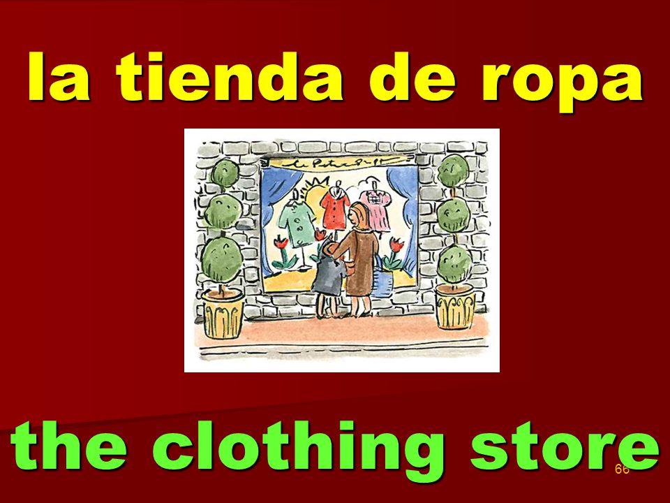 66 la tienda de ropa the clothing store