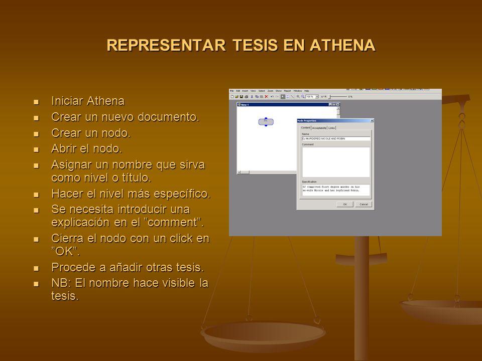 REPRESENTAR TESIS EN ATHENA Iniciar Athena Iniciar Athena Crear un nuevo documento.