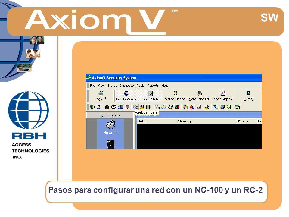 Pasos para configurar una red con un NC-100 y un RC-2 SW