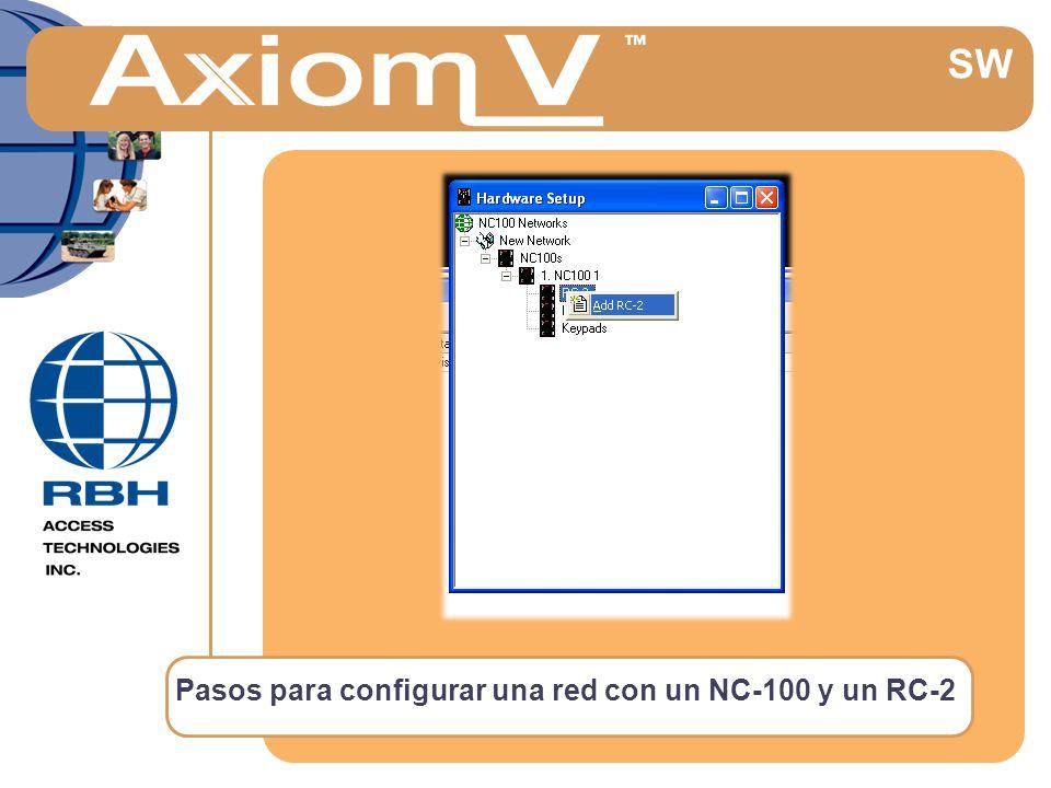 Pasos para configurar una red con un NC-100 y un RC-2