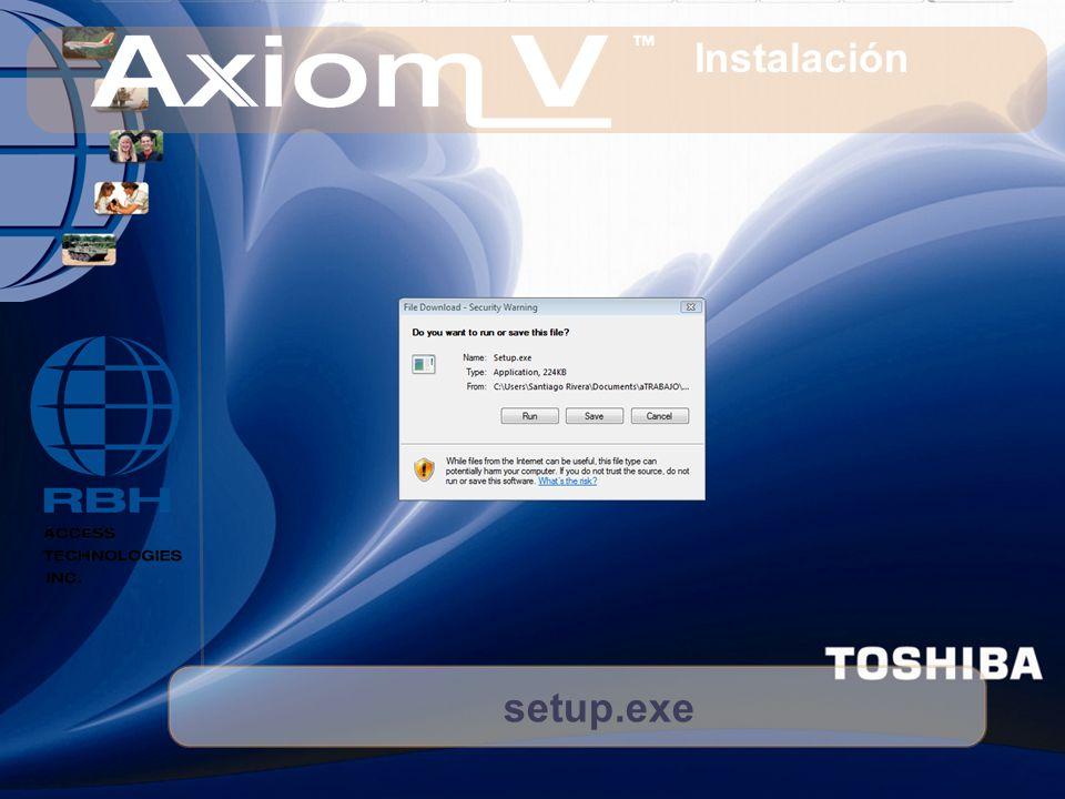 setup.exe Instalación