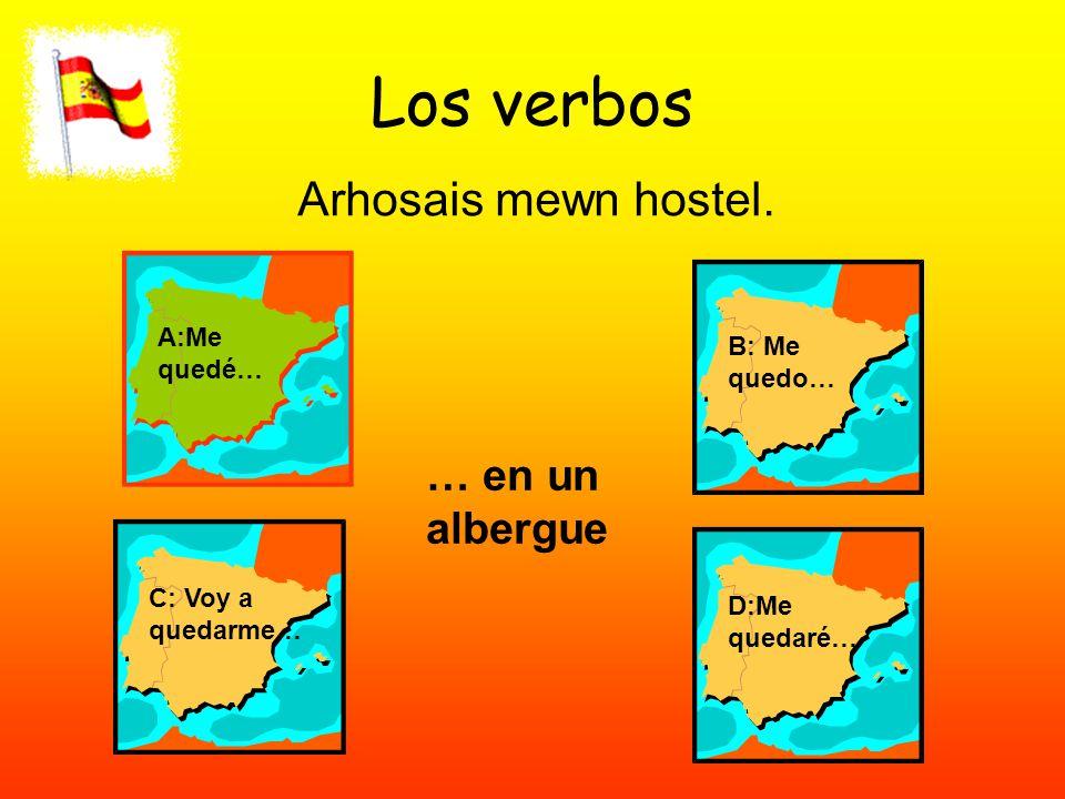 Los verbos Arhosais mewn hostel.