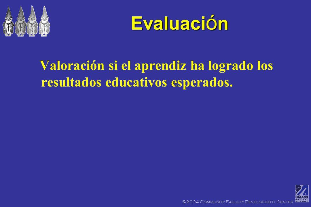 feedback or grade ©2004 Community Faculty Development Center