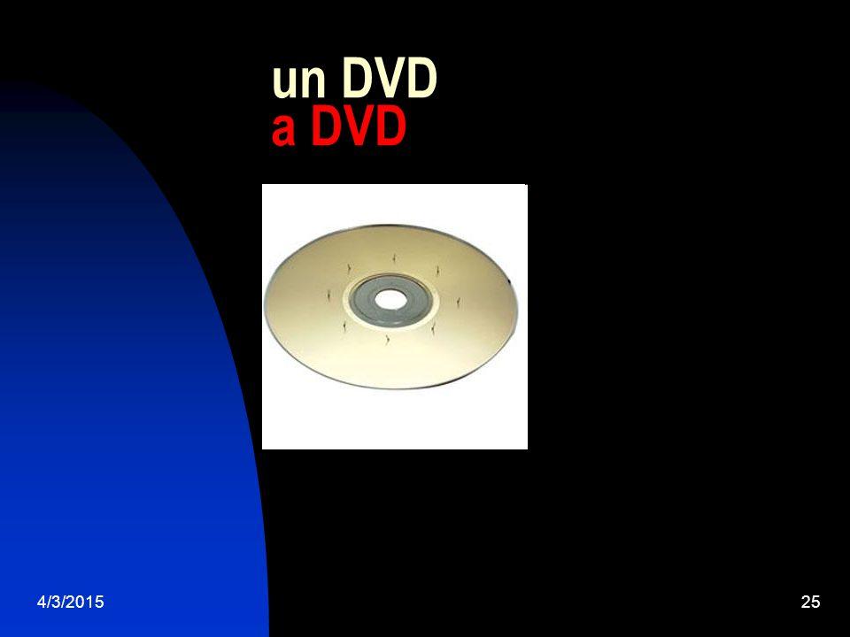 4/3/201525 un DVD a DVD