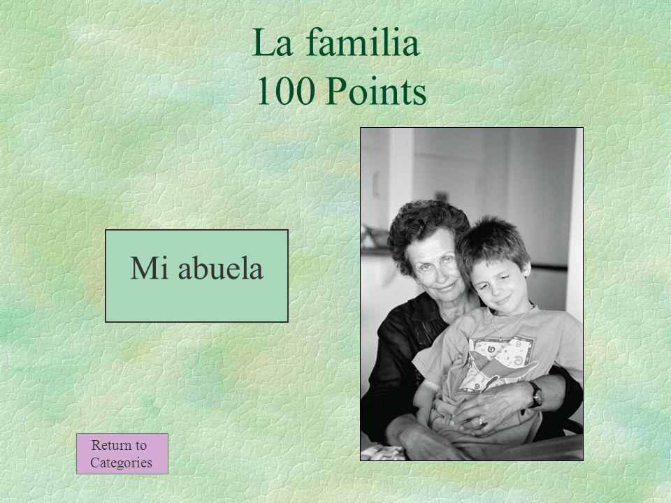 La madre de mi padre La familia 100 Points Return to Categories
