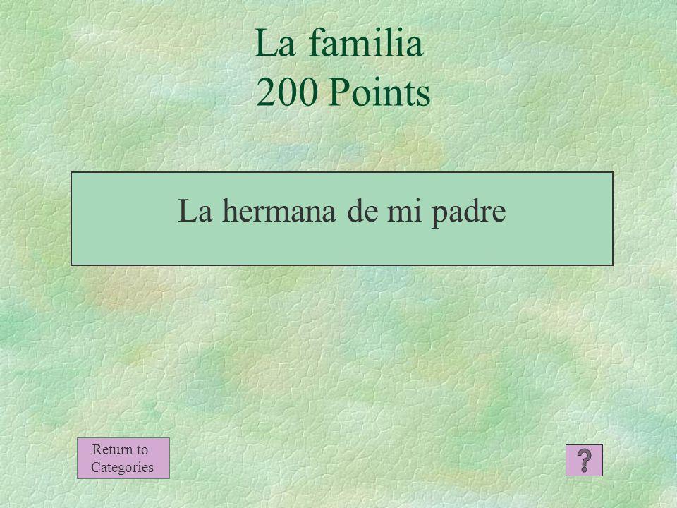 La familia 100 Points Mi abuela Return to Categories