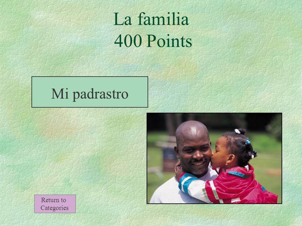 El esposo de mi madre (no es mi padre) La familia 400 Points Return to Categories