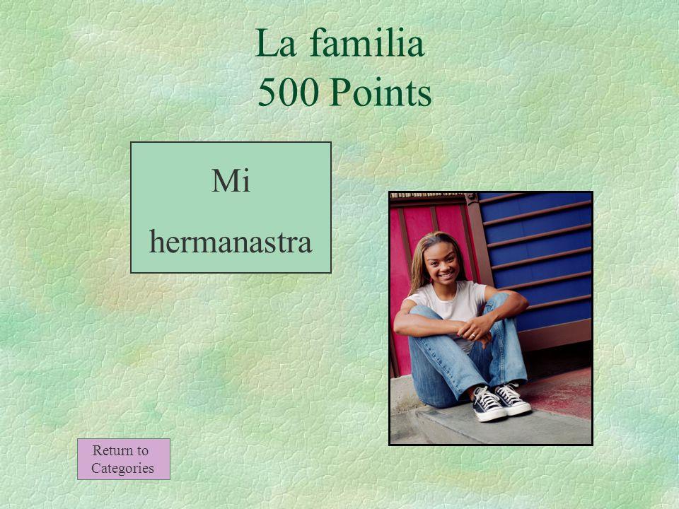 La hija de mi madrastra La familia 500 Points Return to Categories