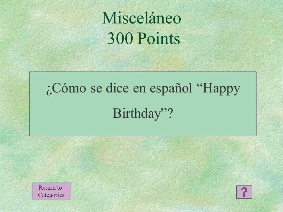 El perro Misceláneo 200 Points Return to Categories