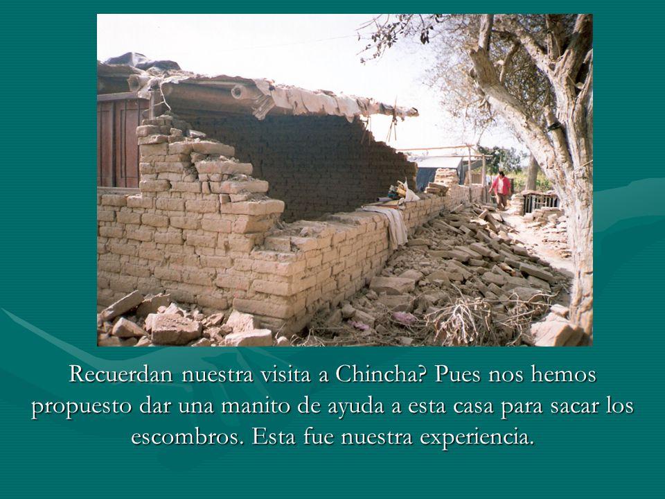 Recuerdan nuestra visita a Chincha.