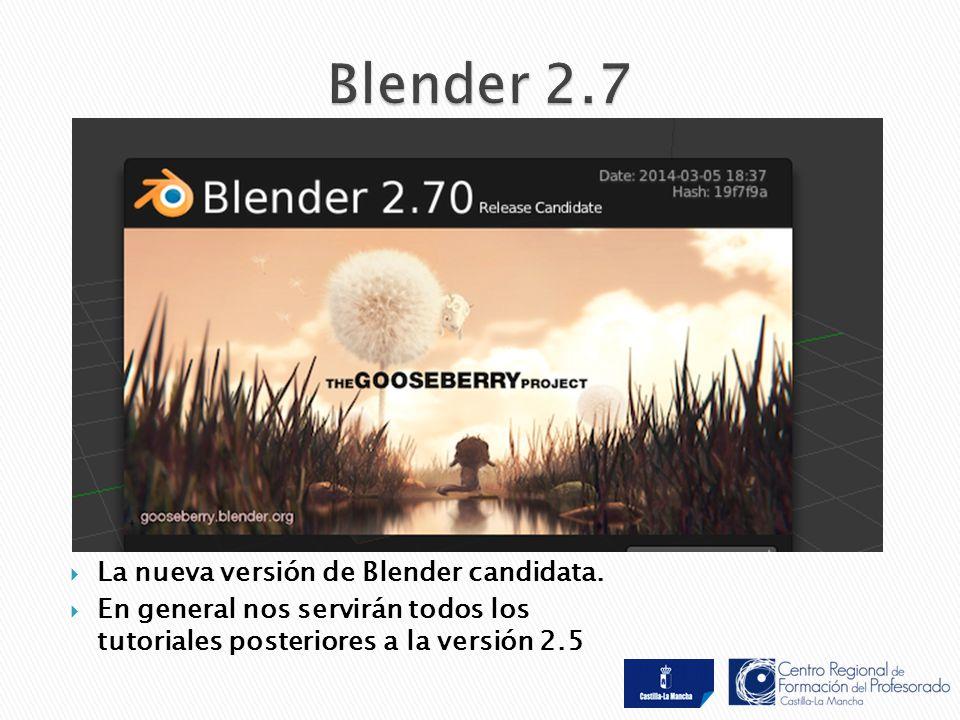  La nueva versión de Blender candidata.
