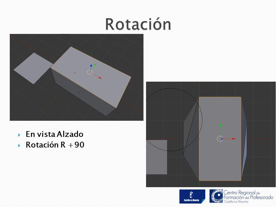  En vista Alzado  Rotación R +90