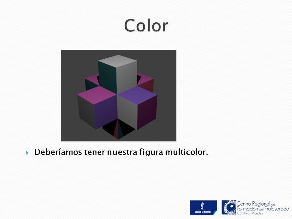  Deberíamos tener nuestra figura multicolor.