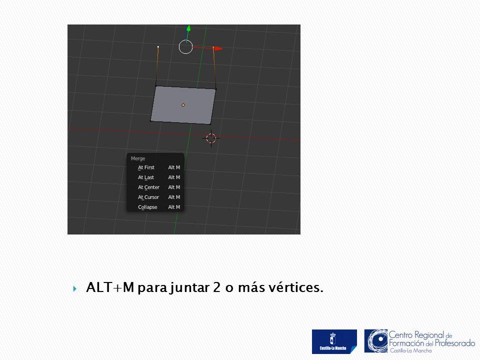  ALT+M para juntar 2 o más vértices.