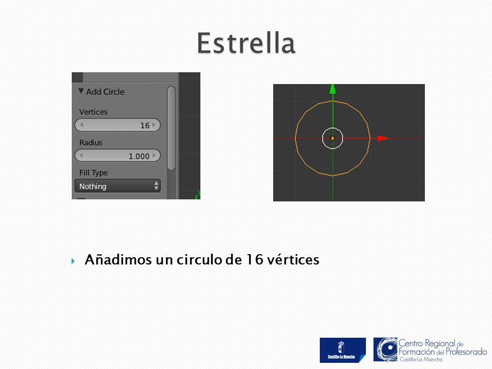  Añadimos un circulo de 16 vértices