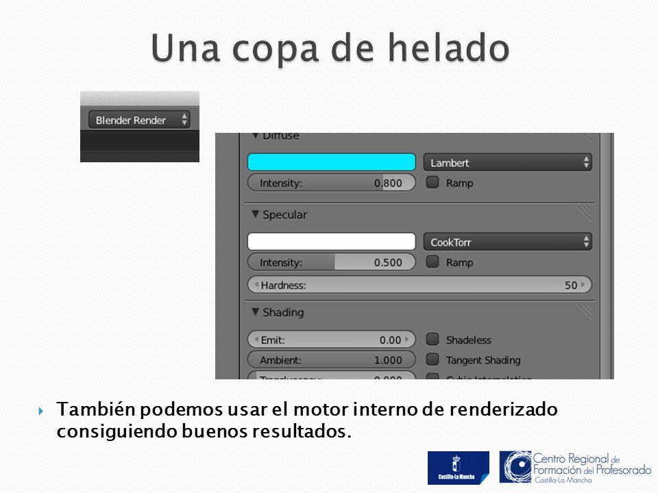  También podemos usar el motor interno de renderizado consiguiendo buenos resultados.