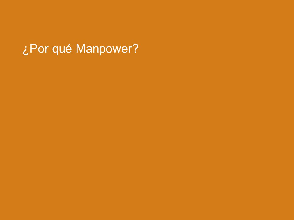 ¿Por qué Manpower