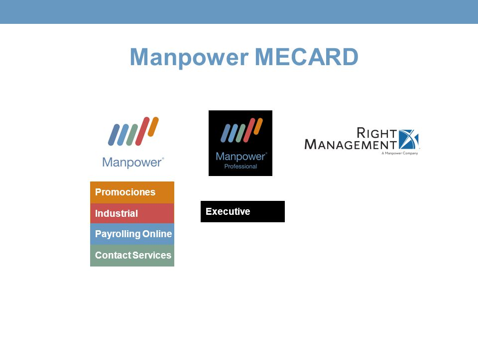 Manpower MECARD Industrial Payrolling Online Contact Services Executive Promociones