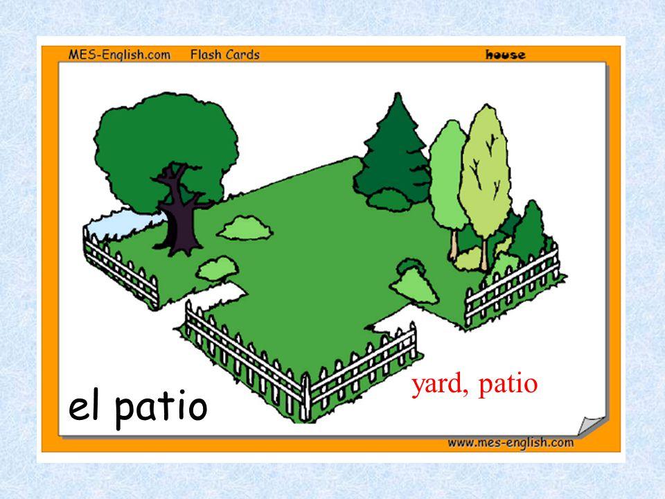 el patio yard, patio