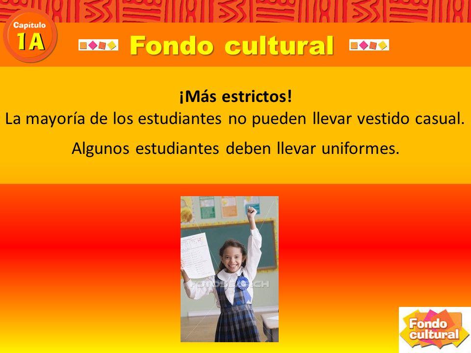 Fondo cultural ¿Más estrictos.