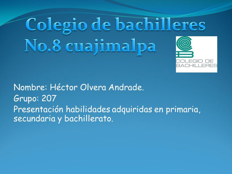 Nombre: Héctor Olvera Andrade.