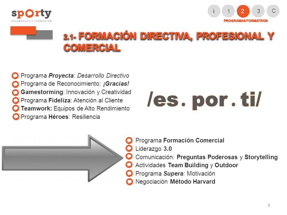 Programa Proyecta: Desarrollo Directivo Programa de Reconocimiento: ¡Gracias.
