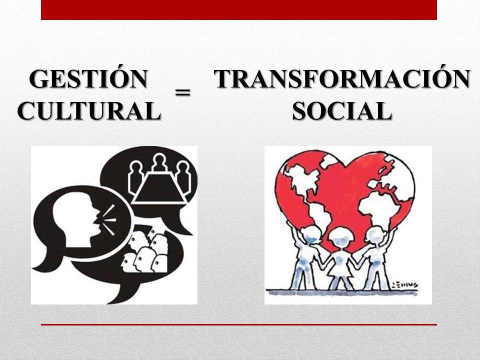 GESTIÓNCULTURAL = TRANSFORMACIÓNSOCIAL