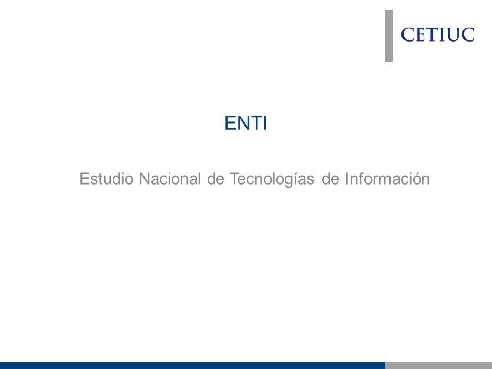 ENTI Estudio Nacional de Tecnologías de Información