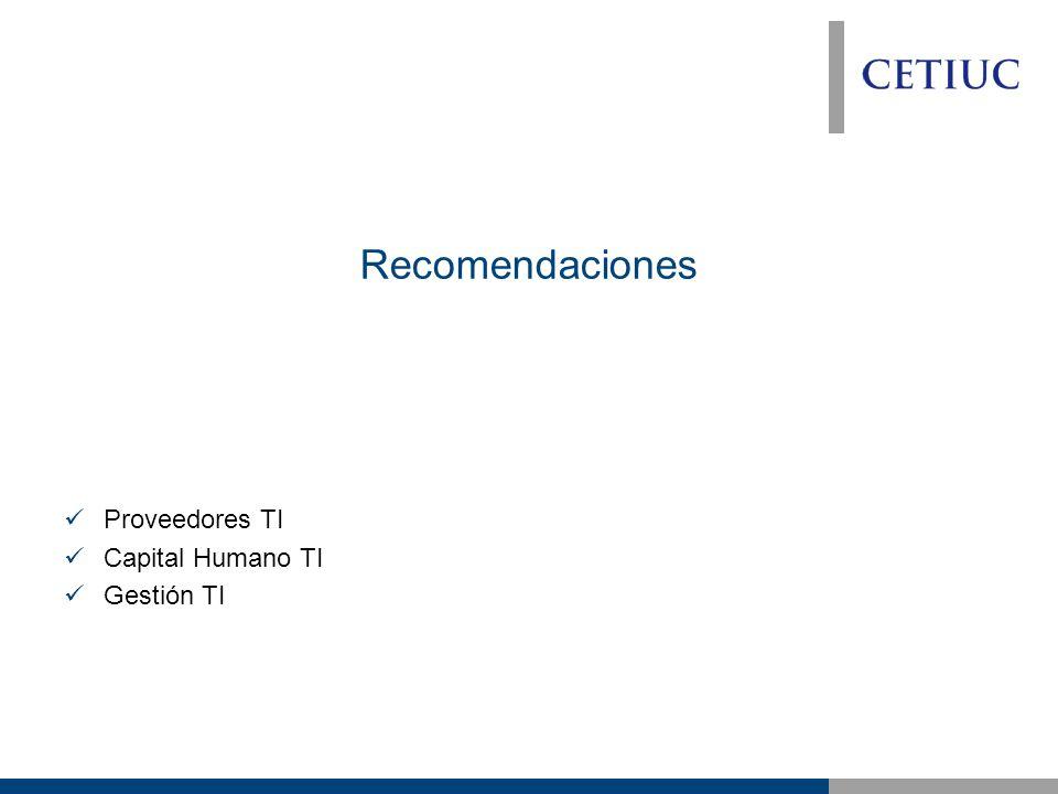 Recomendaciones Proveedores TI Capital Humano TI Gestión TI